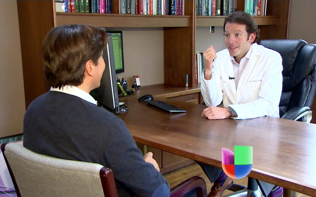 Dr. Sobel Chats Male Cosmetic Surgery with Univision Seattle