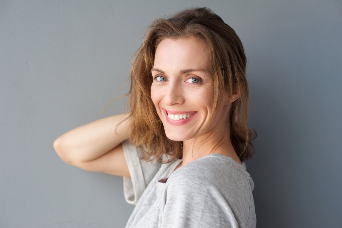 Mature Woman Happy with Her Second Facelift Procedure